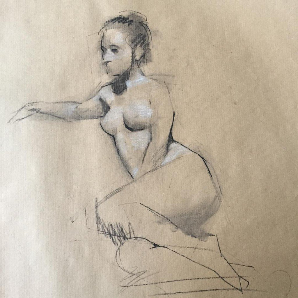 charcoal atelier drawing figure courses