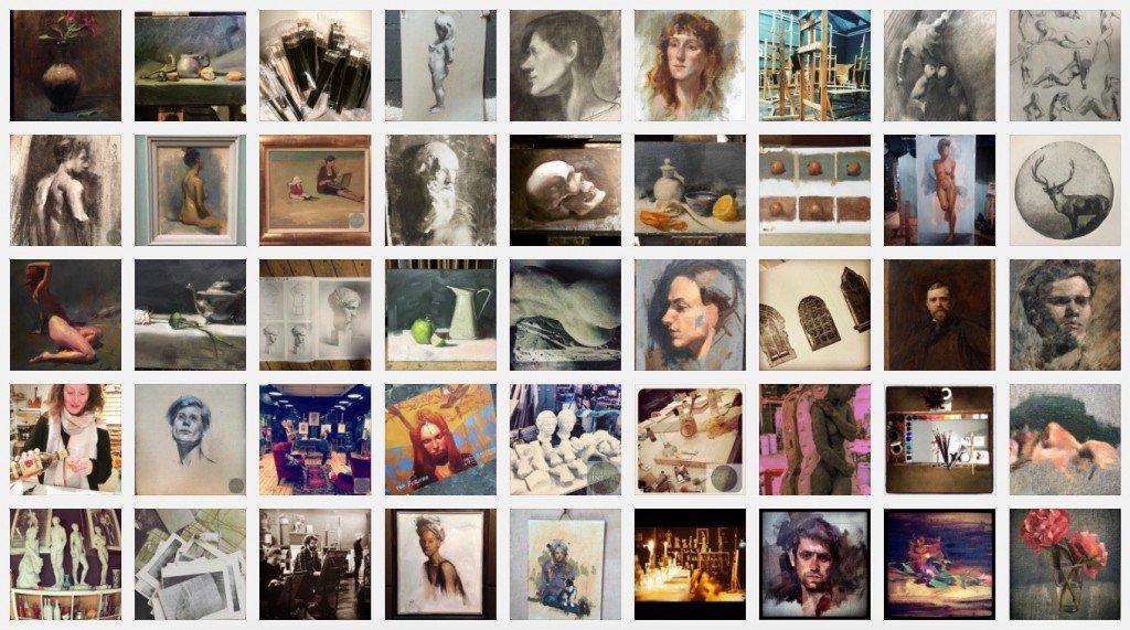 London fine art studios atelier oil paintings