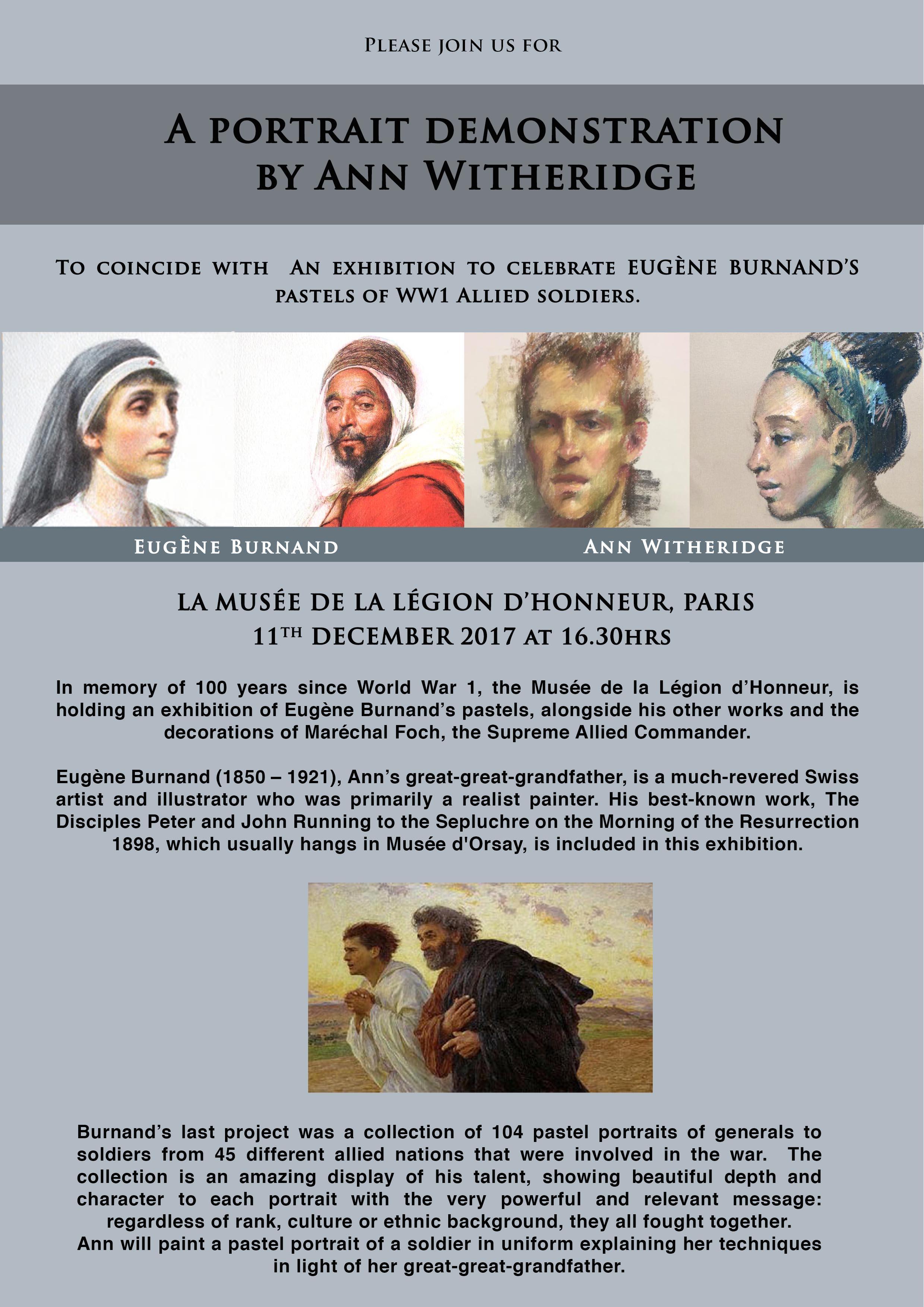Ann Witheridge Demonstration at LA MUSEE DE LA LEGION D'HONNEUR, PARIS FRANCE