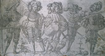 Etching Course London Fine Art Studios Hopfer Etching Plate with Five Soldiers 1520-1536