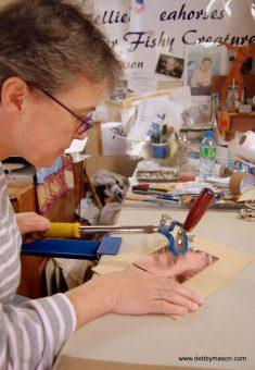Etching Course London Fine Art Studios Modern Day Mezzotint Process
