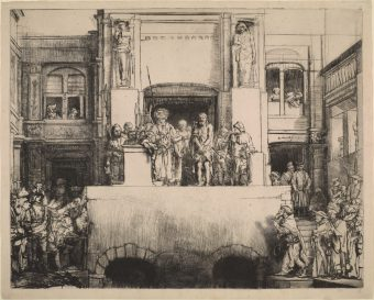 Etching Course London Fine Art Studios Rembrandt Christ Presented to the People 1655