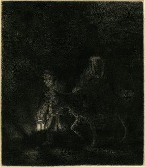 Etching Course London Fine Art Studios Rembrandt The Flight into Egypt 1651