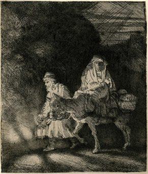 Etching Course London Fine Art Studios Rembrandt The Flight into Egypt 1651