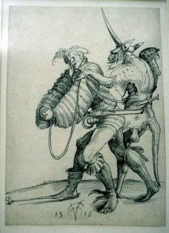 Etching Course London Fine Art Studios Urs Graf Devil Captures Soldier 1516