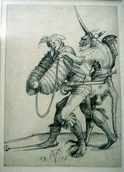 Etching Course London Fine Art Studios Urs Graf Devil Captures Soldier 1516