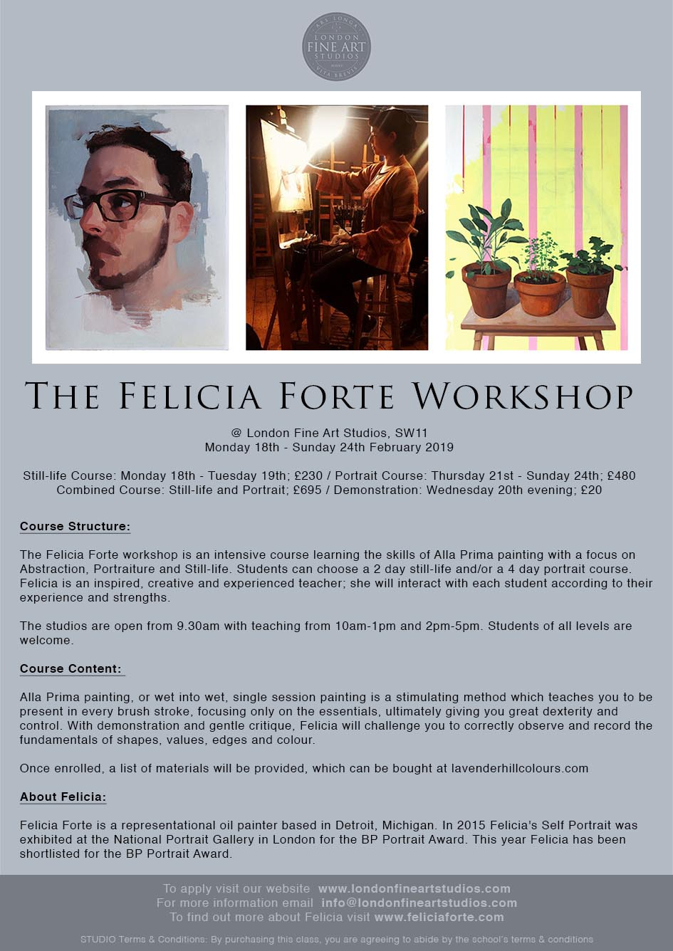 Felicia Forte Drawing & Painting Art Workshops in London
