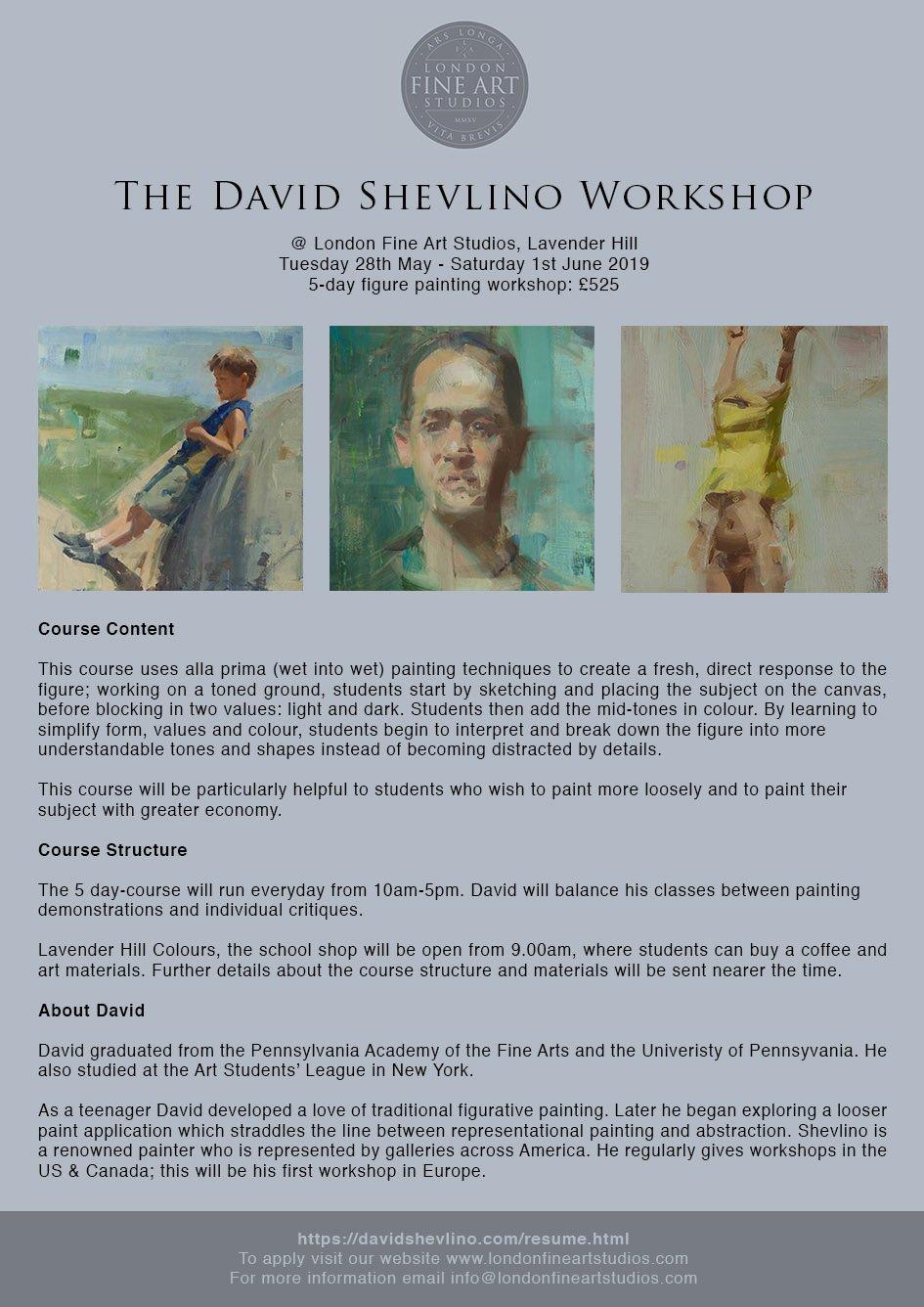 David Shevlino London Art Workshop
