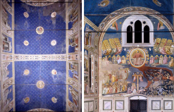 Giotto; Srovegni Chapel; the ceiling and altar