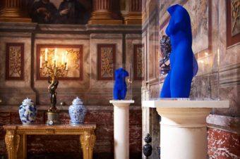Blue Venus sculptures,1962, Blenheim Palace, Palace Saloon, the colour blue, blue, louise long