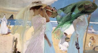 Joaquin Sorolla y Bastida, oil on canvas, women by the sea, painting, fine art, london, london fine art studios, oil painting, seaside painting, oil painting workshops, art classes london
