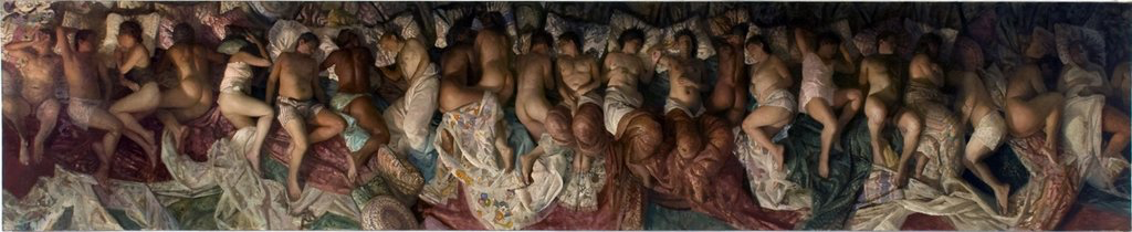 annam butt, de laszlo scholarship, de laszlo, london fine art studios, fine art, art studios, art classes, art workshops, london art workshops, london art, oil painting, london artists, london, Vincent Desiderio, sleep, 2003, 2008, Oil on canvas