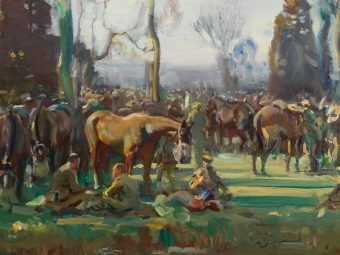 Ann Witheridge painting demo @ National Army Museum @ National Army Museum
