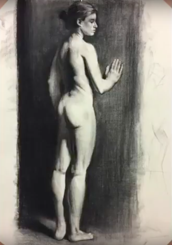 Scott Pohlschmidt, Drawing, Fawnya, Fabriano Roma Paper, sketch, art master, artist, london artist, london fine art studios, fine art studios, london studios, artwork, painting, oil painting, art classes, art workshops, art class, professional artist, london studios