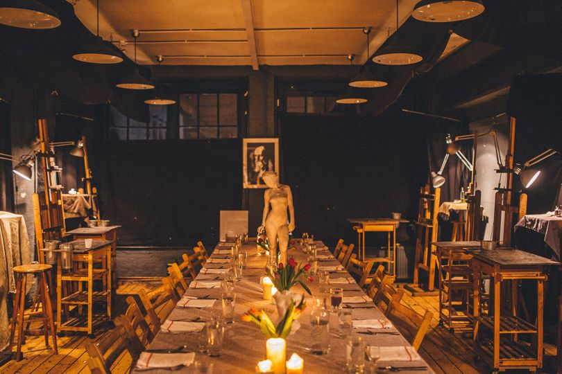 Supper in a Pear Tree, Hens in a Pear Tree, london fine art studios, art supper club, supper club, london supper club, pear tree cafe, art lessons, art classes,