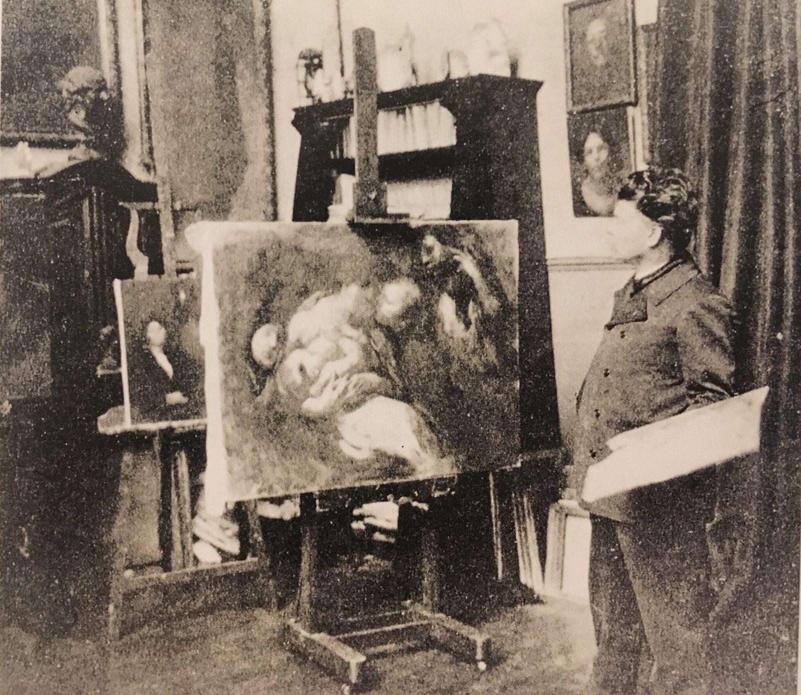Eugene Carriere, Eugene Carriere studio, villa des arts paris, 1901 artist, 1900s, 18th century, fine artist, art lecture, london fine arts, london fine art studios, art lectures london, nneka uzoigwe