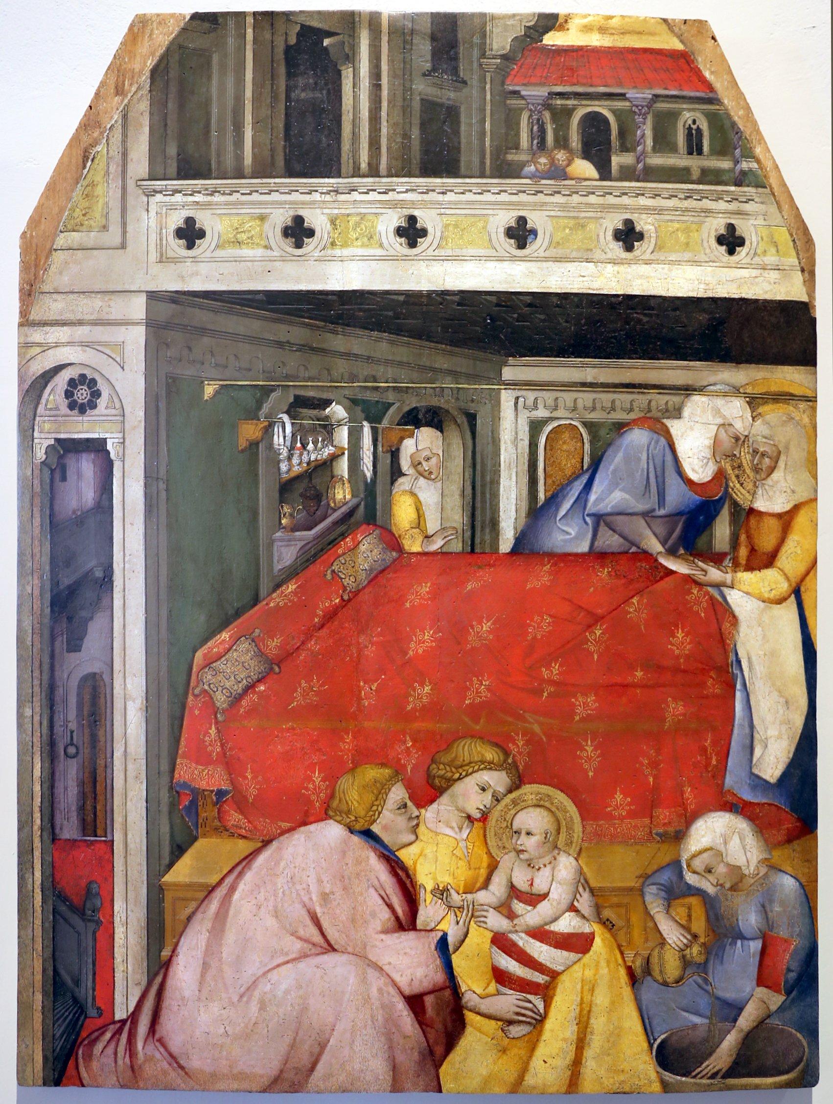 Cennino cennini, natività di maria, 1390-1410, leonardo da vince blog, art blog