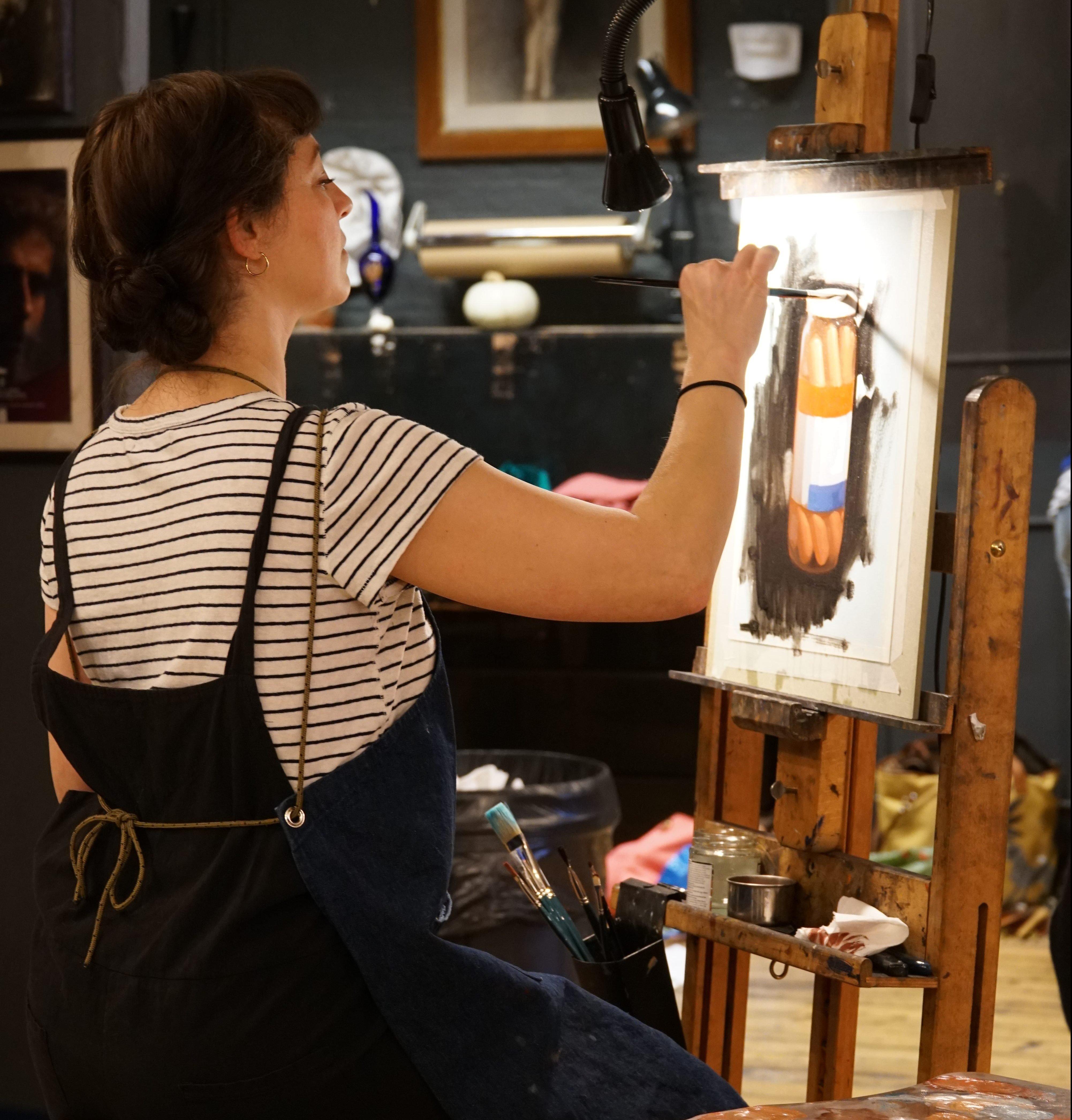 felicia forte workshop, london fine art workshop, london art workshop, london art classes, london fine arts, visiting artists in london, art workshop