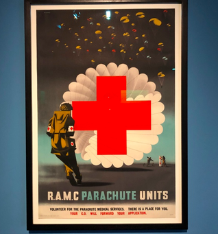 RAMC Parachute Units. Lithograph poster designed by Abram Games, National Army Museum, London