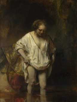 A Woman bathing in a Stream, Rembrandt
