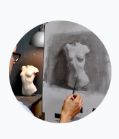 Online Art Course PART 3 – 10 weeks Advanced Cast Drawing & Painting @ London Fine Art Studios