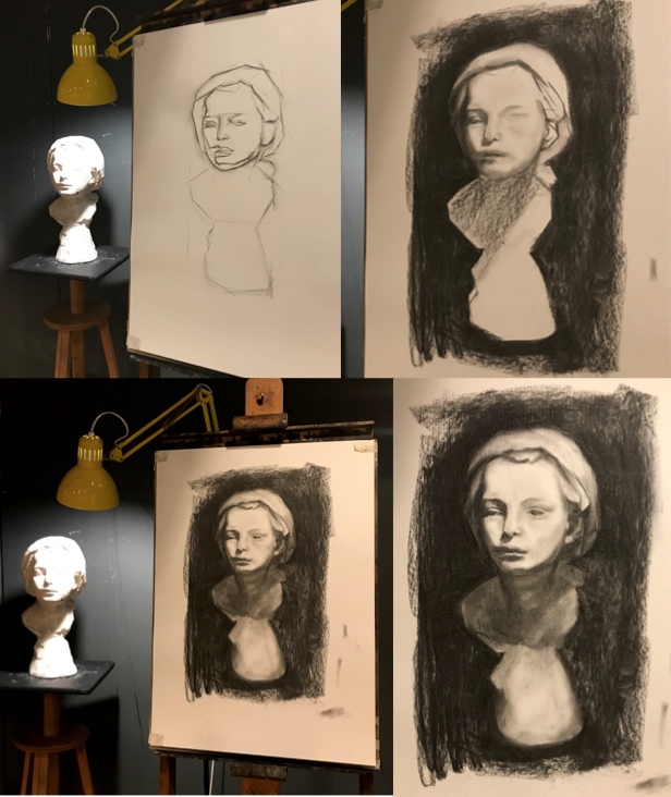 London Fine Art Studios, Foundation Course, Art, Drawing, Drawing from plaster casts
