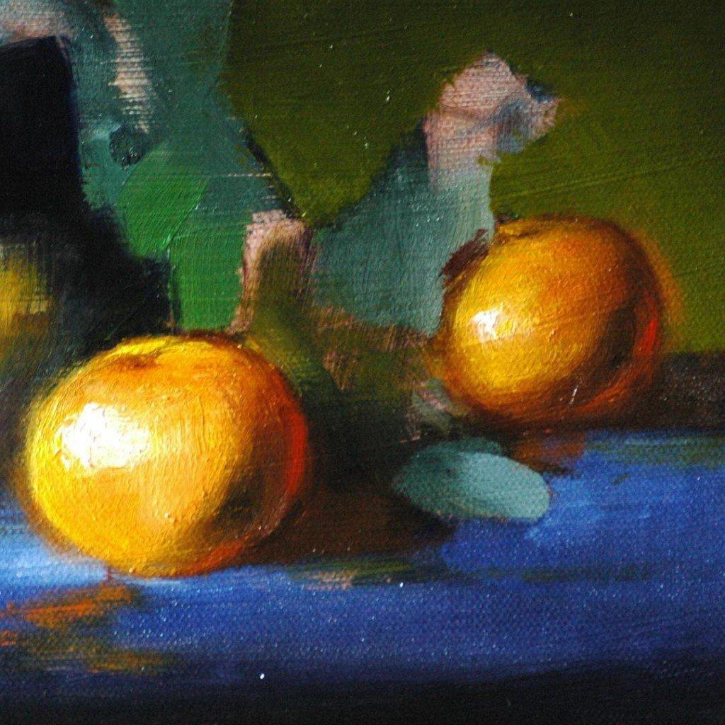 Still life oil painting course atelier london orange