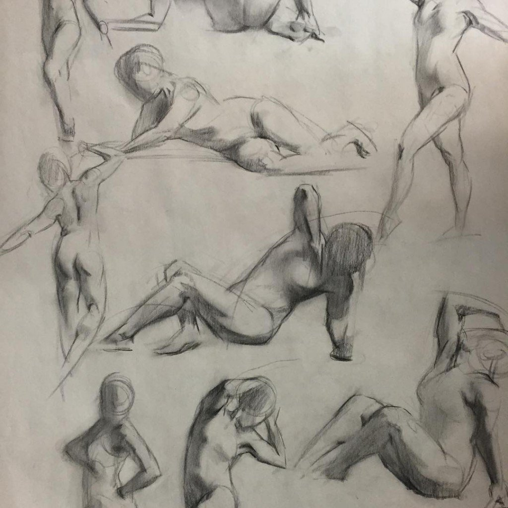 charcoal atelier drawing figure courses anatomy