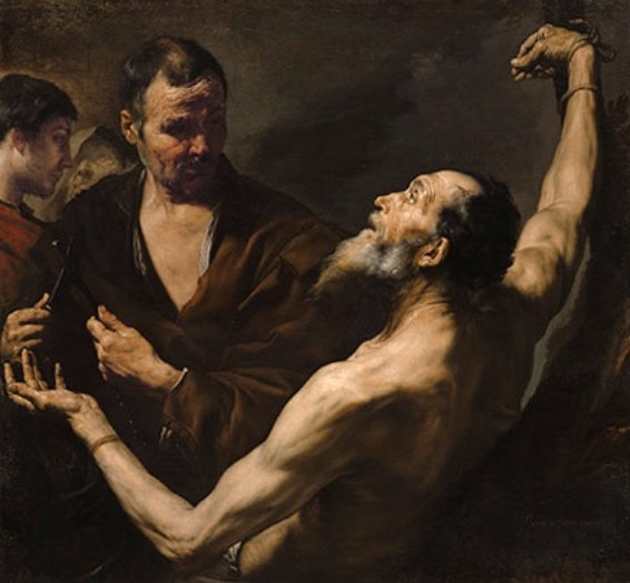 London Fine Art Studios, Ribera, The Martyrdom of Saint Bartholomew, london fine art studios, art courses, art lessons, art workshops, art lecture, forensic detail, dulwich picture gallery workshop, london art, artists, scott pohlschmidt, london artwork