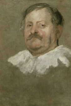 Van Dyck. Portrait Study of a man with a Beard and Ruff. Oil on canvas