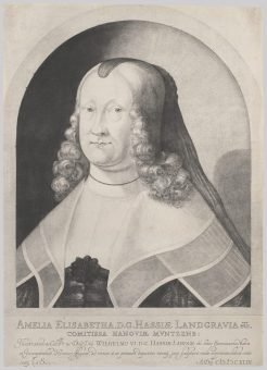 Etching Course London Fine Art Studios Mezzotint Portrait of Amelie Elizabeth 1642