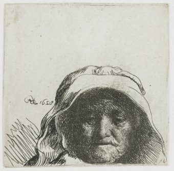 Etching Course London Fine Art Studios Rembrandt The Artist's Mother 1628