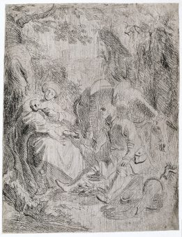 Etching Course London Fine Art Studios Rembrandt The Rest on the Flight into Egypt 1626
