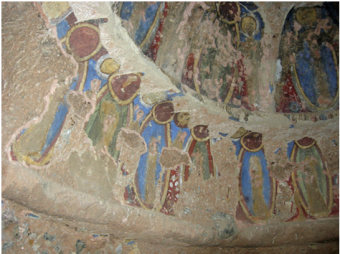 6th century Buddhist paintings Bamiyan Afghanistan