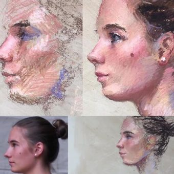 Pastel Portrait Painting Workshop London