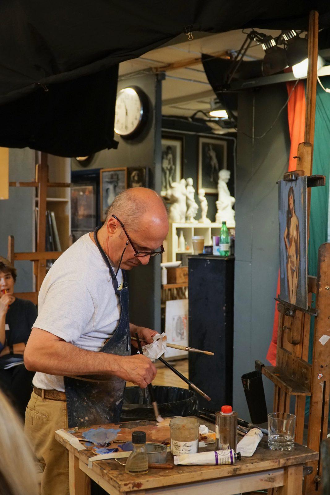 david shevlino, american artist, lonodn fine art studios, art classes, art workshops, figure painting, art class london, london fine art, visiting artists, art studios