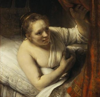 A Woman in Bed, Rembrandt
