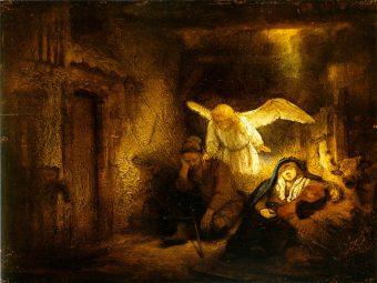 The dream of Joseph, Rembrandt