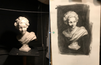 London Fine Art Studios, Foundation Course, Drawing Plaster Casts, Working from life, Value studies