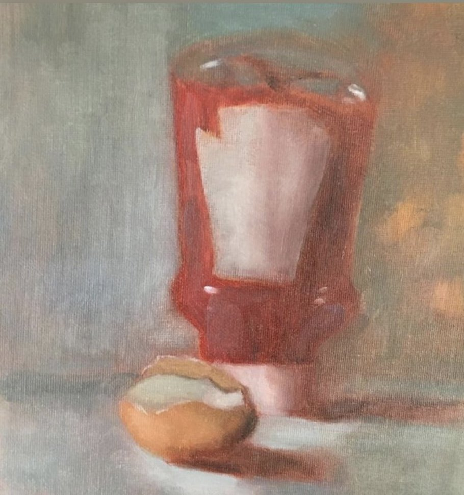 tomato ketchup oil painting